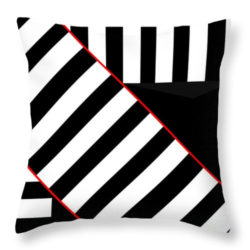 Throw Pillow featuring the digital art Ginza The Babel Legend by Asbjorn Lonvig