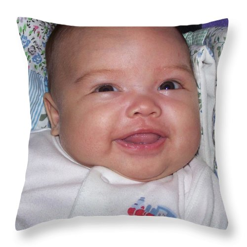 Baby Throw Pillow featuring the photograph Girl Child by Christopher Rowlands