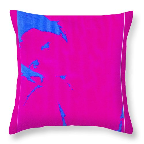 French Girl Throw Pillow featuring the photograph Gisele A French Girl by Dawn Johansen
