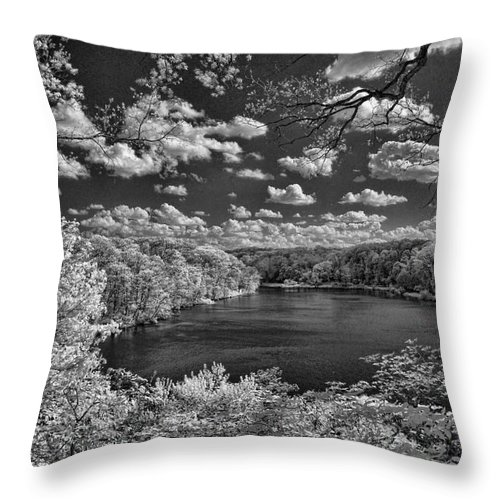 Infrared Throw Pillow featuring the photograph Glacier Lake by Michael McGowan