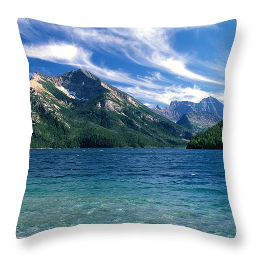 Glacier National Park Throw Pillow featuring the photograph Glacier National Park by Sandra Bronstein