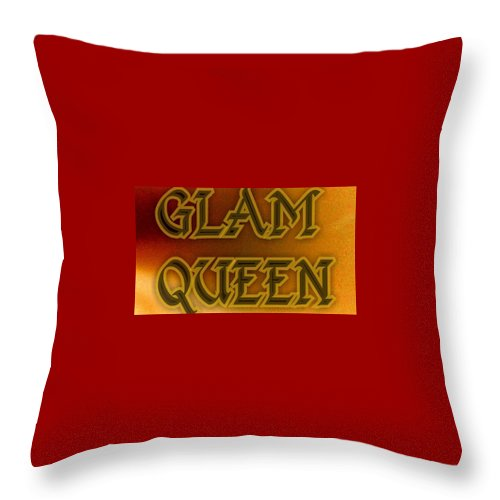 Queen Throw Pillow featuring the digital art Glam Queen by Shirl Denise Frisby