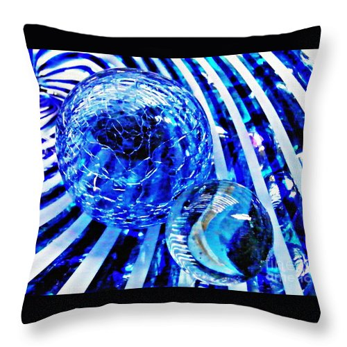 Glass Throw Pillow featuring the photograph Glass Abstract 110 by Sarah Loft