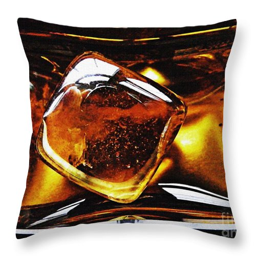 Abstract Throw Pillow featuring the photograph Glass Abstract 317 by Sarah Loft