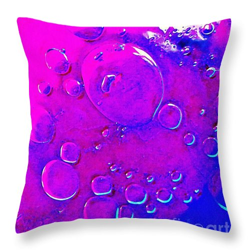 Abstract Throw Pillow featuring the photograph Glass Abstract 605 by Sarah Loft