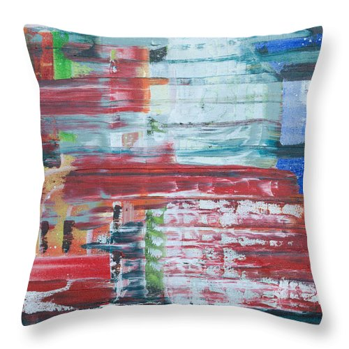 Impressionism Throw Pillow featuring the painting Glass Blocks by J R Seymour