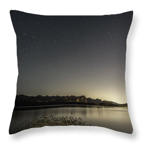 Arizona Throw Pillow featuring the photograph Glass Lake by Rachael Armstead