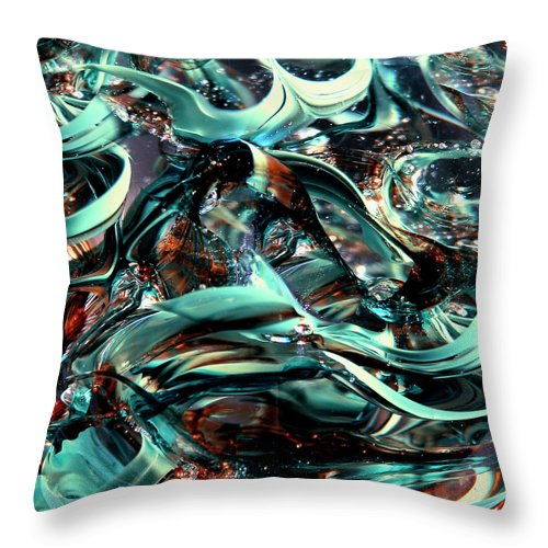 Digital Art Throw Pillow featuring the photograph Glass Macro Iv Ce by David Patterson