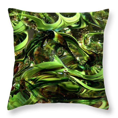 Digital Art Throw Pillow featuring the photograph Glass Macro Iv by David Patterson