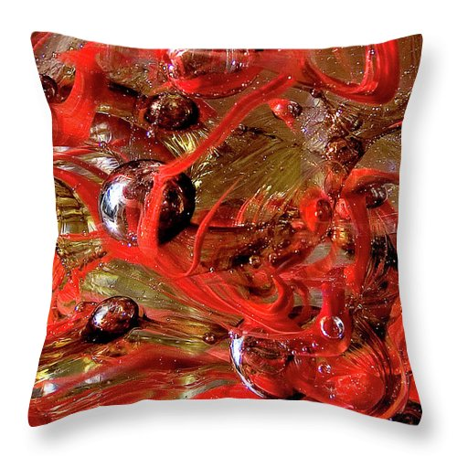 Digital Art Throw Pillow featuring the photograph Glass Macro Vii by David Patterson