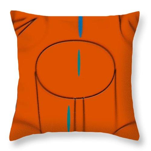 Glass Throw Pillow featuring the digital art Glass Of Water by John Krakora