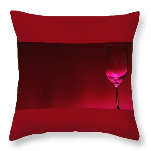 Wine Throw Pillow featuring the digital art Glass Of Wine by Abhijeet Dhidhatre