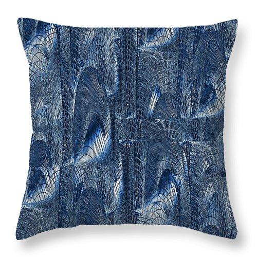 Glass Throw Pillow featuring the digital art Glass Palace by Tim Allen