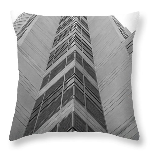 Architecture Throw Pillow featuring the photograph Glass Tower by Rob Hans