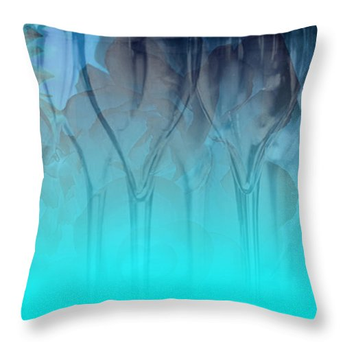 Glasses Throw Pillow featuring the digital art Glasses Floating by Allison Ashton
