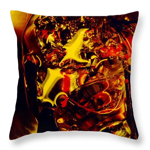 Abstract Throw Pillow featuring the photograph Glassman by David Rivas