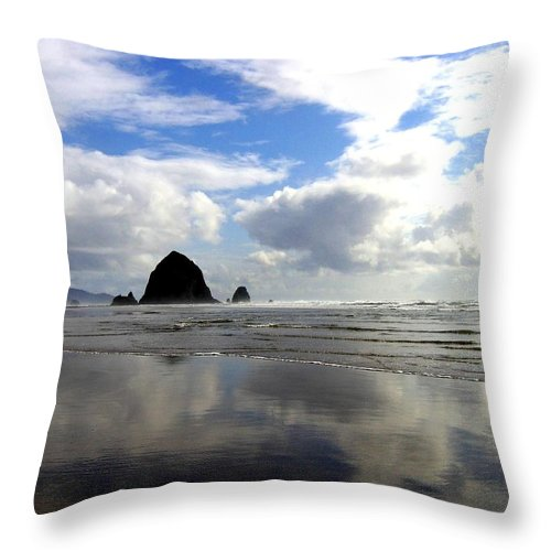 Glassy Sands Throw Pillow featuring the photograph Glassy Sands by Will Borden