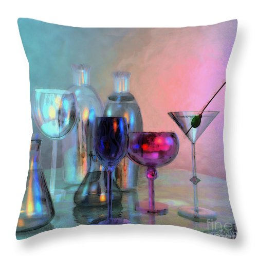 3d Throw Pillow featuring the digital art Glassy Still Life by Jutta Maria Pusl