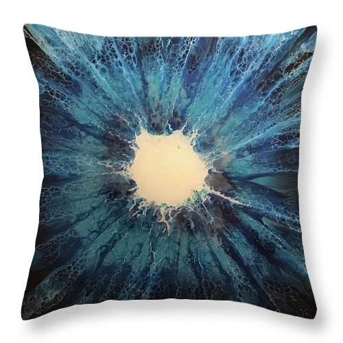 Abstract Throw Pillow featuring the painting Gleam by Ewelina Naumnik