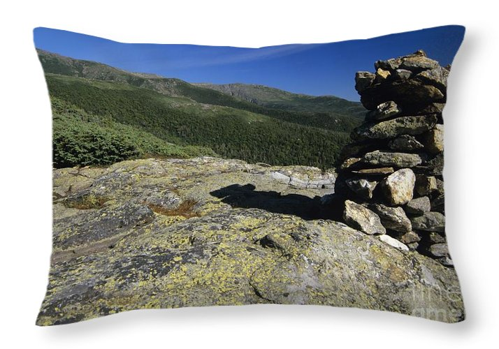 Alpine Zone Throw Pillow featuring the photograph Glen Boulder Trail - White Mountains New Hampshire Usa by Erin Paul Donovan