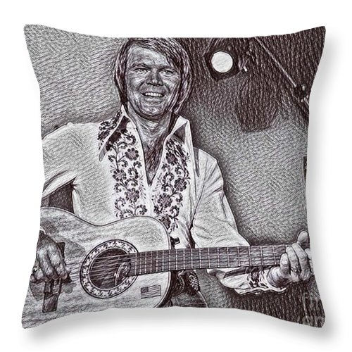 Glen Throw Pillow featuring the drawing Glen by Pd