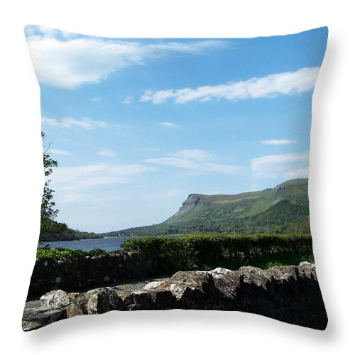 Irish Throw Pillow featuring the photograph Glencar Lake With View Of Benbulben Ireland by Teresa Mucha