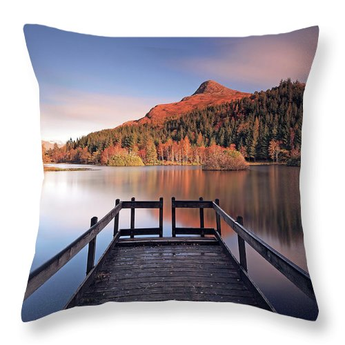 Loch Throw Pillow featuring the photograph Glencoe Lochan by Grant Glendinning