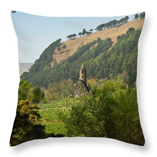 Round Throw Pillow featuring the photograph Glendalaugh 13 by Douglas Barnett