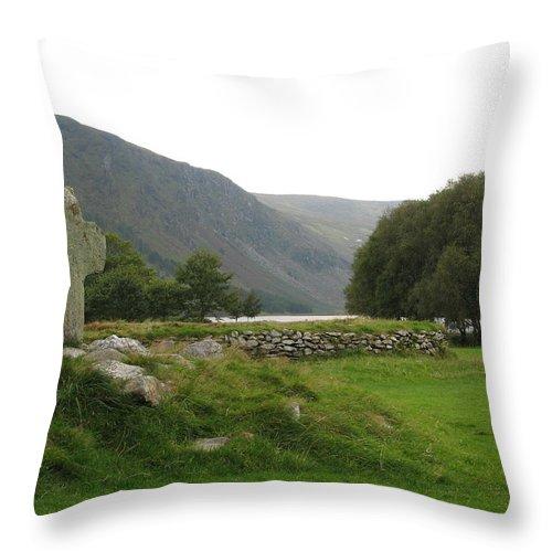 Glendalough Throw Pillow featuring the photograph Glendalough by Kelly Mezzapelle