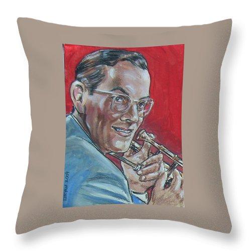Glenn Miller Throw Pillow featuring the painting Glenn Miller by Bryan Bustard