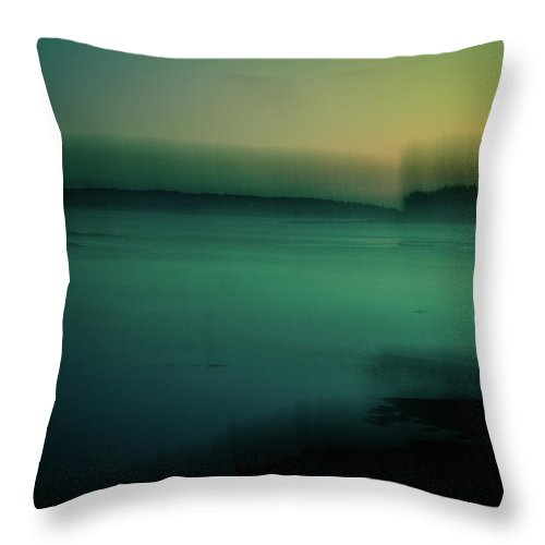 Maine Throw Pillow featuring the photograph Gloaming by Olivia StClaire