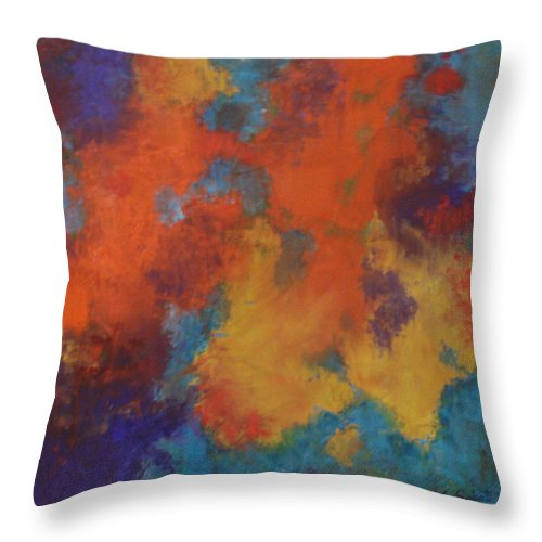 Global Warming Throw Pillow featuring the painting Global Warming by Kim Sobat