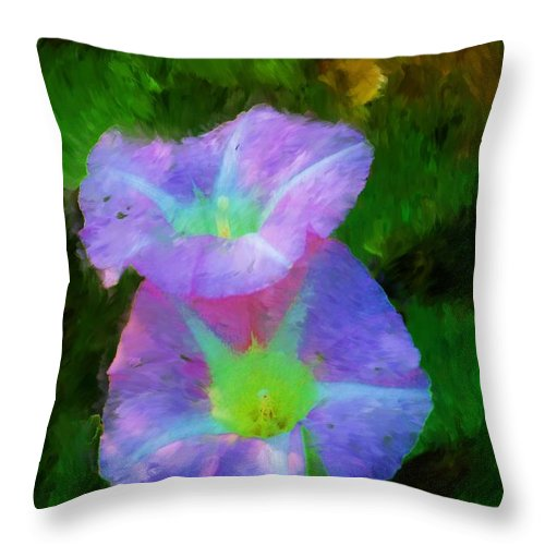 Floral Throw Pillow featuring the painting Gloria In The Shade by David Lane