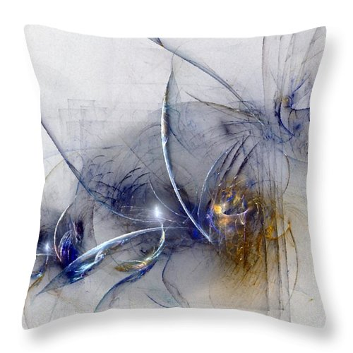 Glory Throw Pillow featuring the digital art Glorifying The Vision by NirvanaBlues