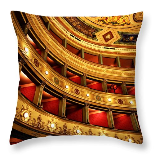 Theatre Throw Pillow featuring the photograph Glorious Old Theatre by Marilyn Hunt