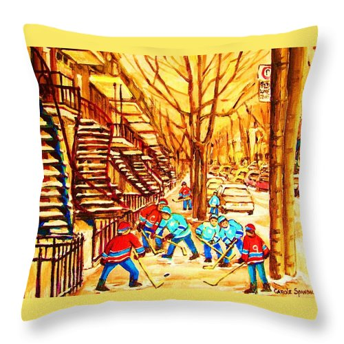 Golden Days Throw Pillow featuring the painting Glory Days by Carole Spandau