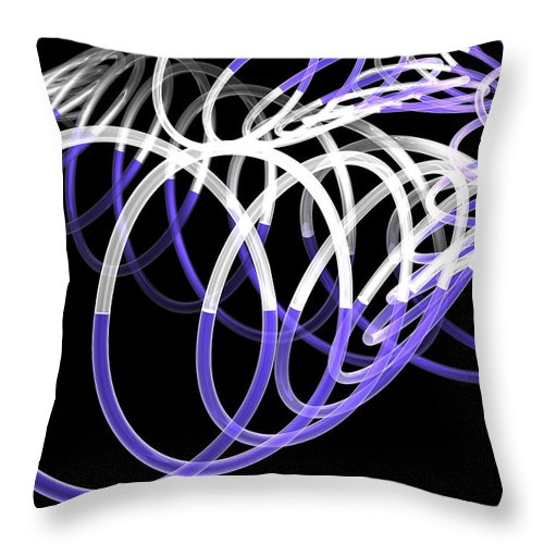 Scott Piers Throw Pillow featuring the painting Glow Stix by Scott Piers