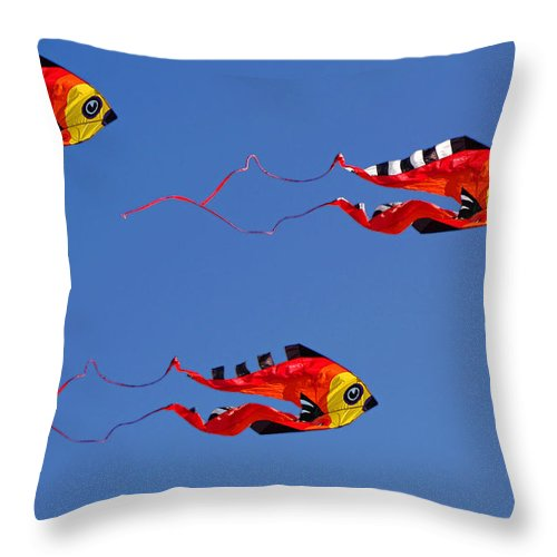 Clay Throw Pillow featuring the photograph Go Fly A Kite by Clayton Bruster