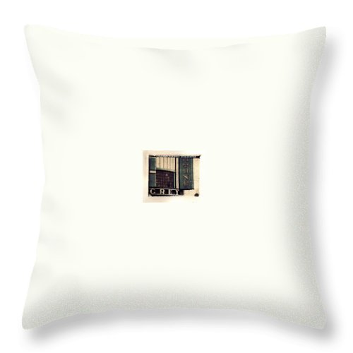 Polaroid Transfer Throw Pillow featuring the photograph Go Greyhound And Leave The Driving To Us by Jane Linders