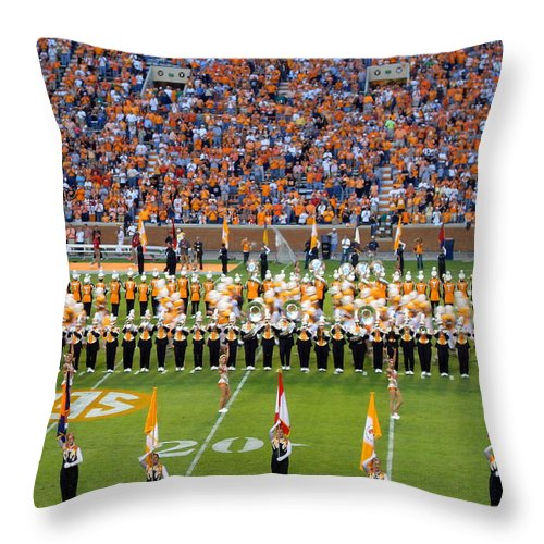 Events Throw Pillow featuring the photograph Go Vols by April Patterson