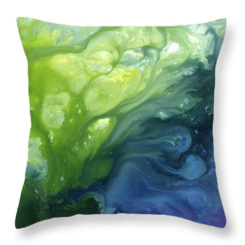 Water Throw Pillow featuring the painting Go With The Flow by Sherry Shipley