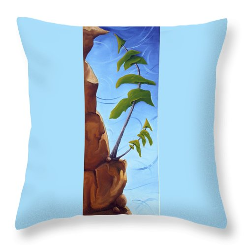 Landscape Throw Pillow featuring the painting Goals by Richard Hoedl