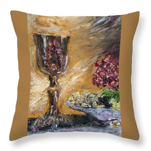 Throw Pillow featuring the painting Goblet by Stephen King