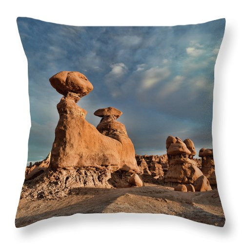 Utah Throw Pillow featuring the photograph Goblin Valley by Martin Gollery