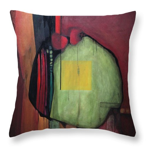 Abstract Throw Pillow featuring the painting Gobs by Marlene Burns