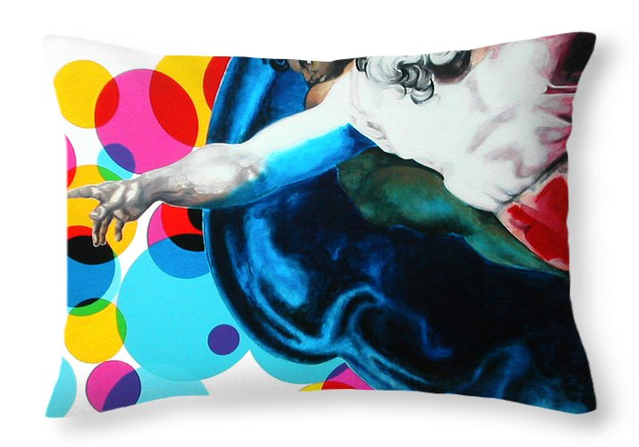 Classic Throw Pillow featuring the painting God by Jean Pierre Rousselet