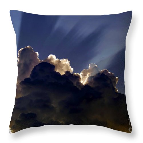 God Throw Pillow featuring the painting God Speaking by David Lee Thompson