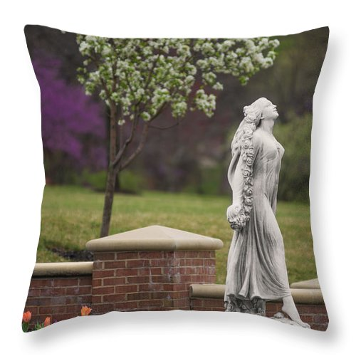Spring Throw Pillow featuring the photograph Goddess Of Spring by Don Spenner