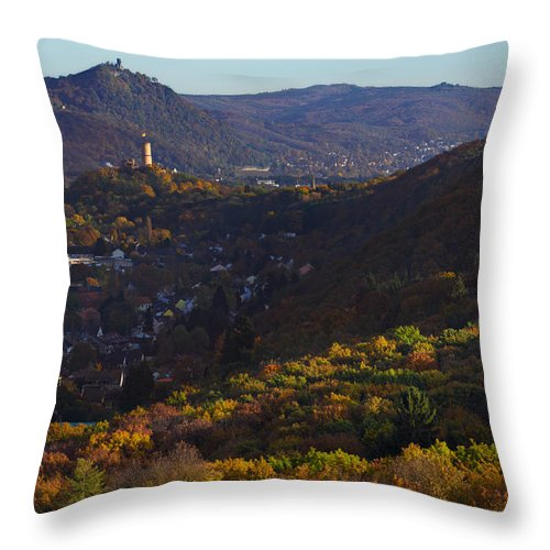 Autumn Throw Pillow featuring the photograph Godesburg by Andre Distel